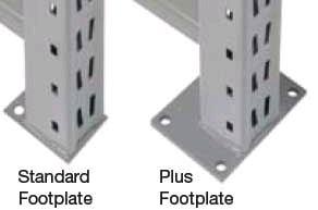 Pallet Rack Footplate Types