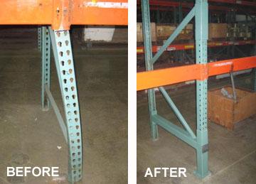 Pallet Rack Damage Repair